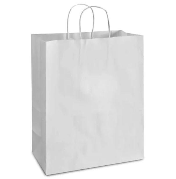 White Kraft paper shopping bag