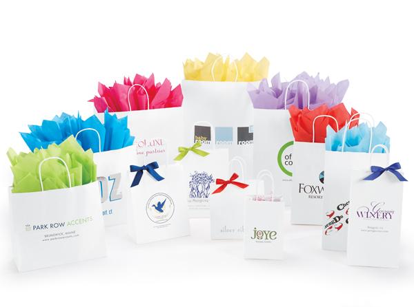 White Kraft Paper Shopping Bags