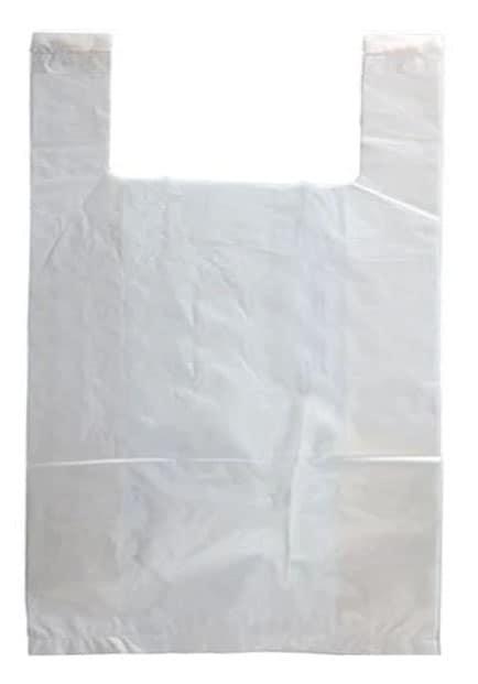 White Plastic T-Shirt Bag