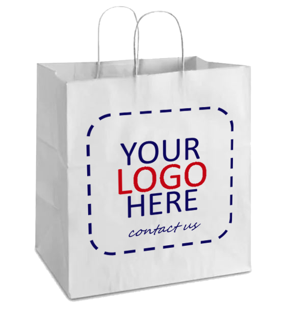 Custom Logo Printing White Bag