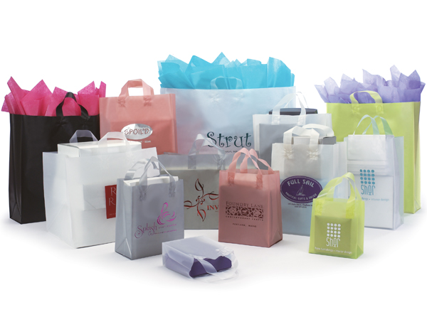 Frosted High Density Shopping Bags