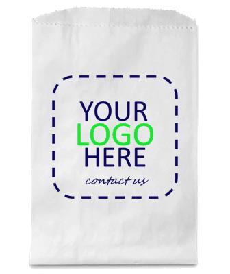 Custom Printed White Kraft Merchandise Bag