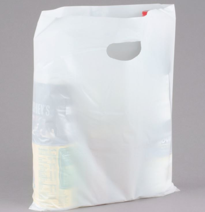 White Lo-Density plastic merchandise bag