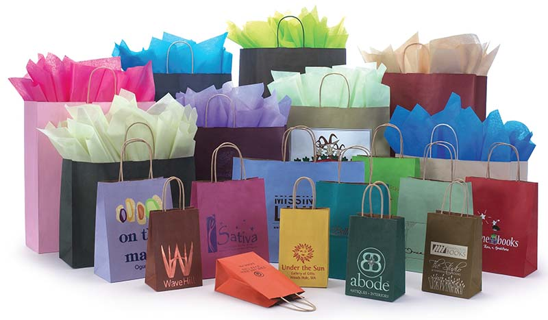 Varnish Stripe Shopping Bags